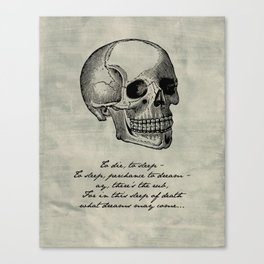 Shakespeare - Hamlet - What Dreams May Come Canvas Print