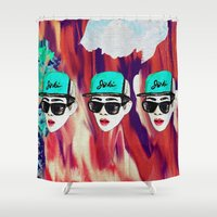 shinee Shower Curtains featuring Lee Jinki by GIZIBE
