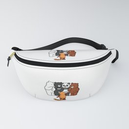 The Four Funny Bears And Their Friend Racoon Fanny Pack