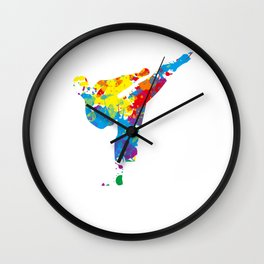 This karate design is the perfect gift for martial artists who loves Taekwondo or Kung Fu Wall Clock