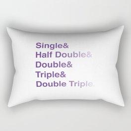 Crochet Helvetica Ampersand Style Rectangular Pillow