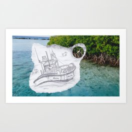 Sailing Blue Art Print