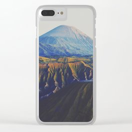 Bromo volcano Clear iPhone Case