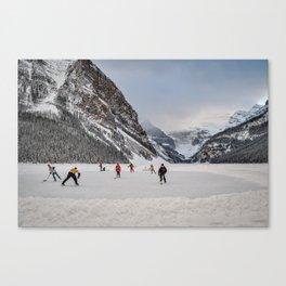 Shinny at Lake Louise Canvas Print