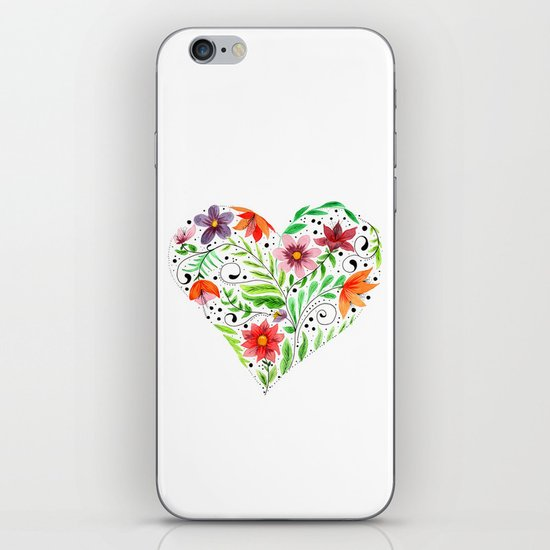 Heart of Flowers iPhone & iPod Skin