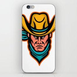 American Cowboy Sports Mascot iPhone Skin