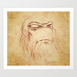 Leonardo's Self Portrait Art Print