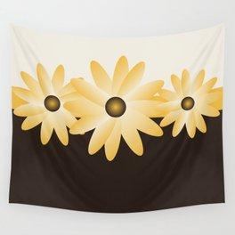 Yellow Daisy Wall Tapestry