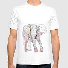 Elephant MEDIUM White Mens Fitted Tee