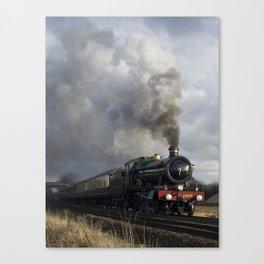 Rood Ashton Hall making up time - colour Canvas Print