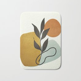 Soft Abstract Small Leaf Bath Mat