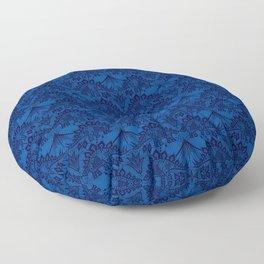 Stegosaurus Lace - Blue Floor Pillow