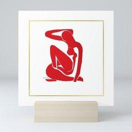 Henri Matisse, Nu Rouge II (Red Nude II) lithograph modernism portrait painting Mini Art Print