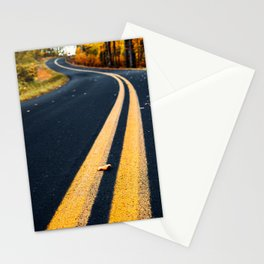road in autumn Stationery Cards