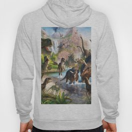 Jurassic dinosaurs in the river Hoody