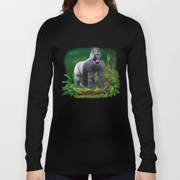 Silverback Gorilla Guardian of the Rainforest Long Sleeve T-shirt
