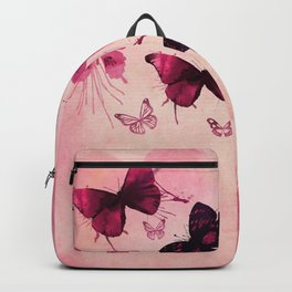 PINK BUTTERFLIES WATERCOLOR Backpack