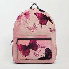 PINK BUTTERFLIES WATERCOLOR Backpack