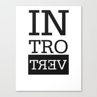 introvert Canvas Prints featuring Introvert by Introvertology