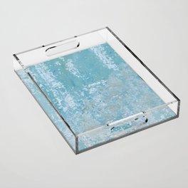 Vintage Galvanized Metal Acrylic Tray