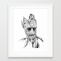 groot Framed Art Prints featuring Groot by Giorgia Ruggeri