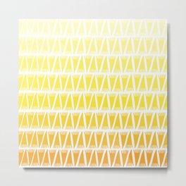 Tee Pee Yellow Gradient Metal Print