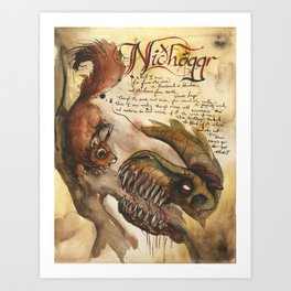 Nidhoggr from the Field Guide to Dragons Art Print
