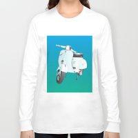 vespa Long Sleeve T-shirts featuring Vespa by Frivolous Designs