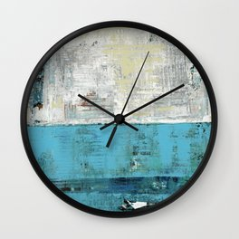 Fairbanks Abstract Light Blue White Wall Clock