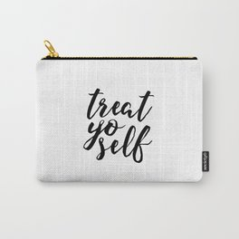 Parks and Recreation Print Treat Yo Self Print Funny Quote Print Typography Poster Scandinavian Carry-All Pouch