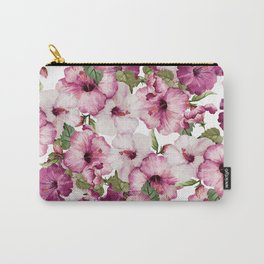 Hibiscus Pattern Carry-All Pouch