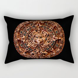 Ancient Mayan Sun Calendar Rectangular Pillow