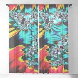 fractal mandelbrot art wallpaper Sheer Curtain