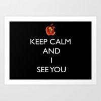 keep calm Art Prints featuring KEEP CALM  by Caio Trindade