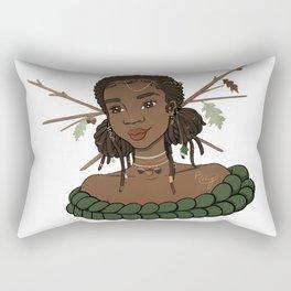 Autumn Oak Goddess • Black Girl Magic in Fall Colors Rectangular Pillow