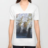 san diego V-neck T-shirts featuring Cliffs of San Diego by Tdrisk46