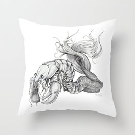 Craw Mama Throw Pillow