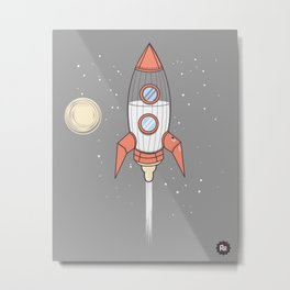 Bottle Rocket Metal Print