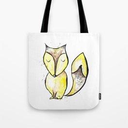 Watercolor sleepy fox Tote Bag