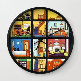Vintage Doll House Wall Clock