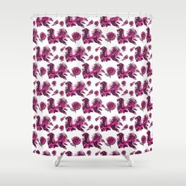 Roosters and Roses SC Shower Curtain