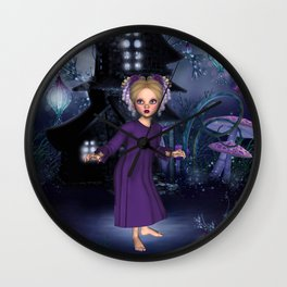 Little Daphine Fantasy Fairy World Wall Clock