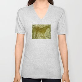 Abstract Silver Unisex V-Neck
