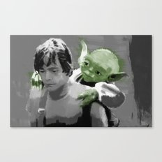 Luke Skywalker & Yoda Canvas Print