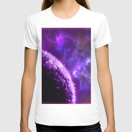 Purple Planet Bout to Blow T-shirt