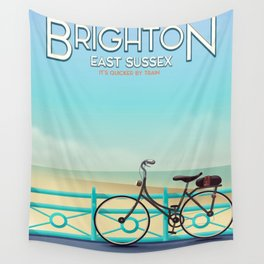 Brighton, East Sussex vintage travel poster. Wall Tapestry