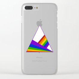 Mountains and Rainbows - Pride Clear iPhone Case