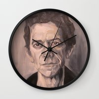 lou reed Wall Clocks featuring Lou by Charles Ellison