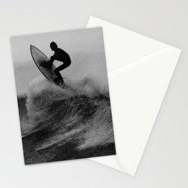 Surf black white Stationery Cards