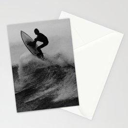 Surf black white Stationery Cards